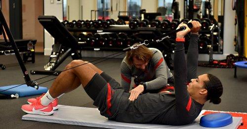 Virgil van Dijk trains with AC Milan legend as Liverpool star steps up return