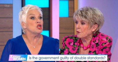 Denise Welch and Gloria Hunniford in furious Loose Women clash