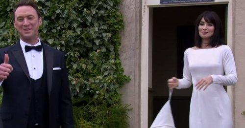 Emmerdale fans divided over Leyla's 'bed sheet' wedding dress