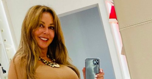 Carol Vorderman fans sent into frenzy over racy holiday photo