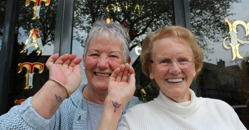 Nan, 89, becomes 'oldest person' in parlour to get tattoo