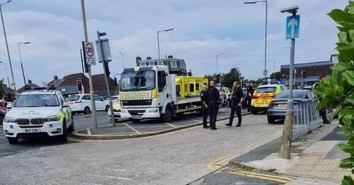 'Screams' as lorry driver's 'leg snapped' in street attack