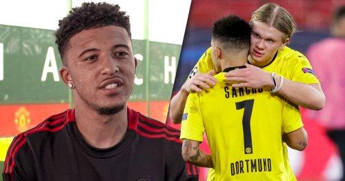 Jadon Sancho sends message to Liverpool linked Haaland after Man Utd move
