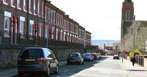 Terraced houses on street frozen in time you'll know off the TV