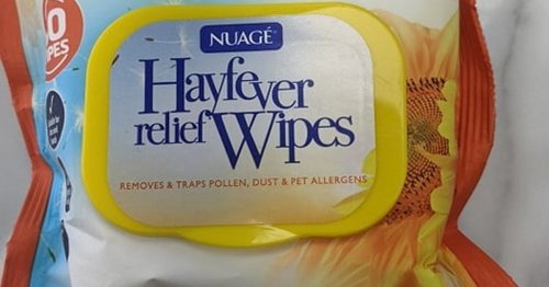 I tested hay fever relief wipes and it was a waste of time