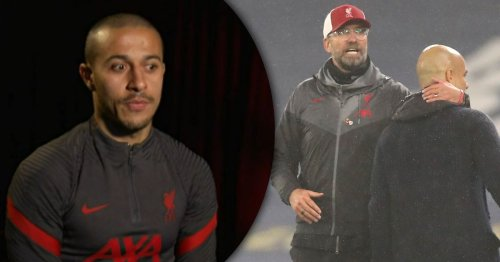 Liverpool star Thiago makes Jurgen Klopp and Pep Guardiola comparison