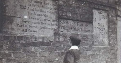Strange 'puzzle' messages scratched into wall of house