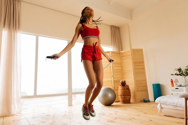 This 20-Minute Jump Rope and Body-Weight Workout Chisels and Strengthens Your Legs