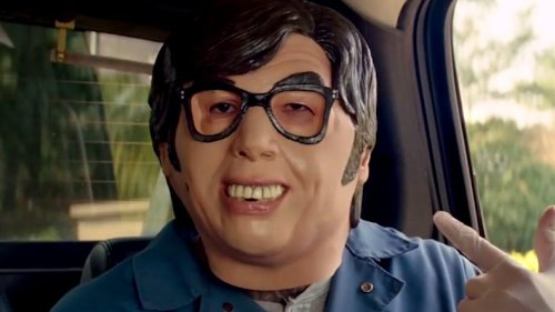 The Story Behind The Austin Powers Masks In Baby Driver's Heist Scene