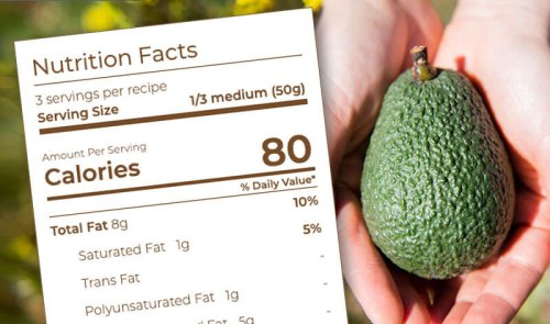 Avocado Nutrition Label & Facts – Nutritional Value of Avocado