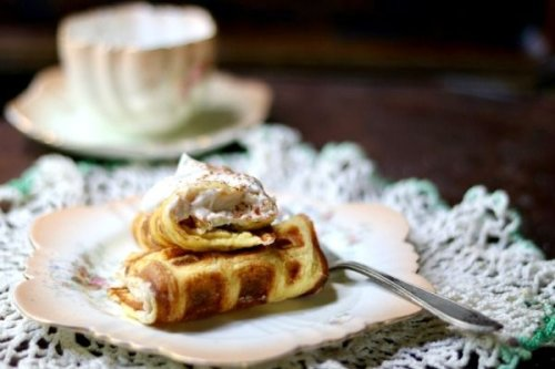 Bavarian Cream Stuffed Waffles: Is It a Waffle or a Crepe - Lowcarb-ology