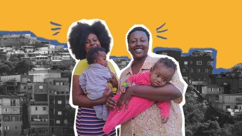 'Maternidade sapatão': criação preta, da quebrada e em dose dupla