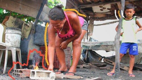 Falta de acesso ao gás de cozinha expõe crianças a queimaduras