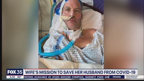 Wife's mission to save her husband from COVID-19
