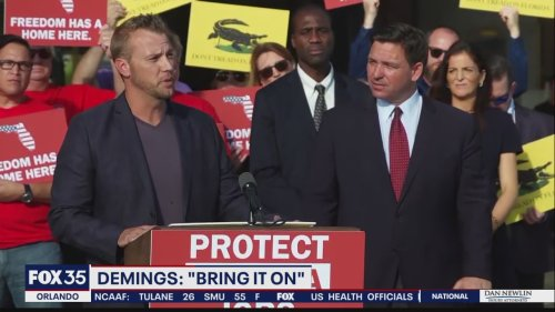 "Mayor Demings to Gov. DeSantis"" 'Bring it on'"