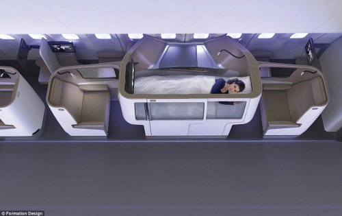 Elevated suites will let first class passengers to doze off above other passengers