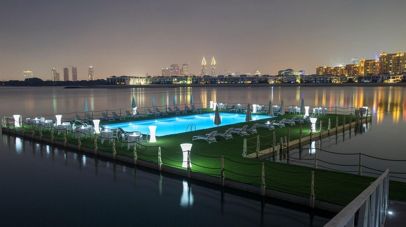 Dubai adds a floating swimming pool to its ridiculous roster of innovations