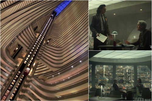The TVA headquarters from the hit Disney+ show Loki is actually a fancy 50 story Marriott hotel in Atlanta