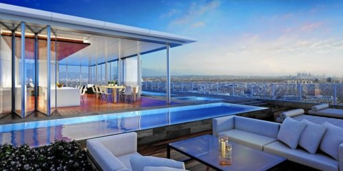 With iPhone-controlled elevators, L.A.'s paparazzi-free penthouse is listed for a whopping $50 million : Luxurylaunches