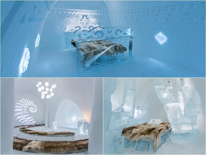 19 breathtaking suites carved from solid ice at Sweden's Ice hotel - Luxurylaunches