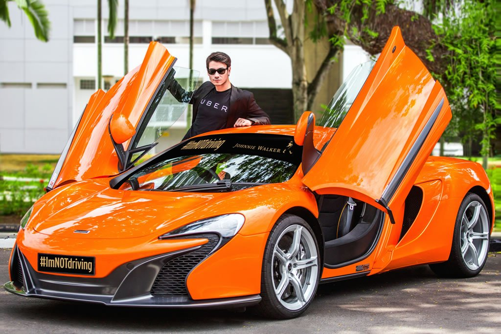 Uber partners with Johnnie Walker to give away free rides of McLaren 650S in Singapore - Luxurylaunches
