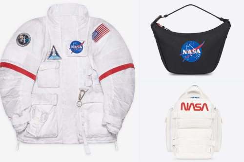 Balenciaga has launched an astronomical NASA-Inspired apparel line that includes scarves, t-shirts and even $5,000 jackets that make you look like an astronaut