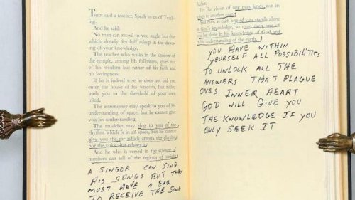 Gifted to his bodyguard, Elvis Presley's annotated copy of 'The Prophet' is on sale now and can fetch upto $27,000