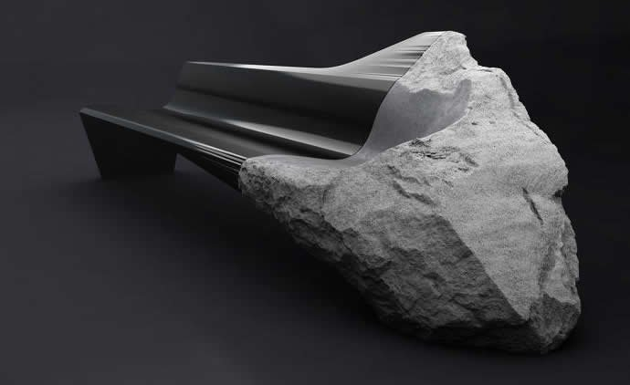 Peugeot designs a $186,000 Sofa made out of 11,000 year old volcanic lava and carbon fiber - Luxurylaunches