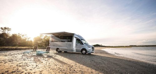 Complete with a walk in shower, 5-star interiors, and even a mechanized TV – Mercedes-Benz has collaborated with Airstream for an ultra-luxury camper van