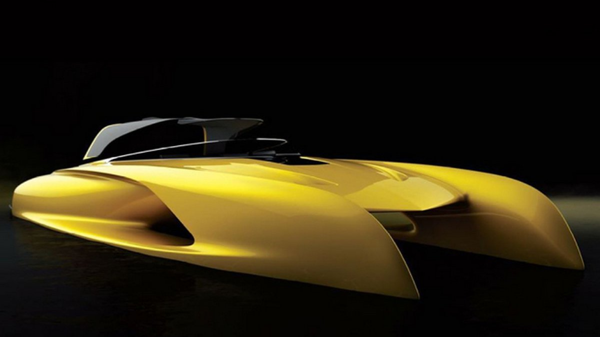 This Formula One-inspired sports tender concept is a Bugatti of the boating world