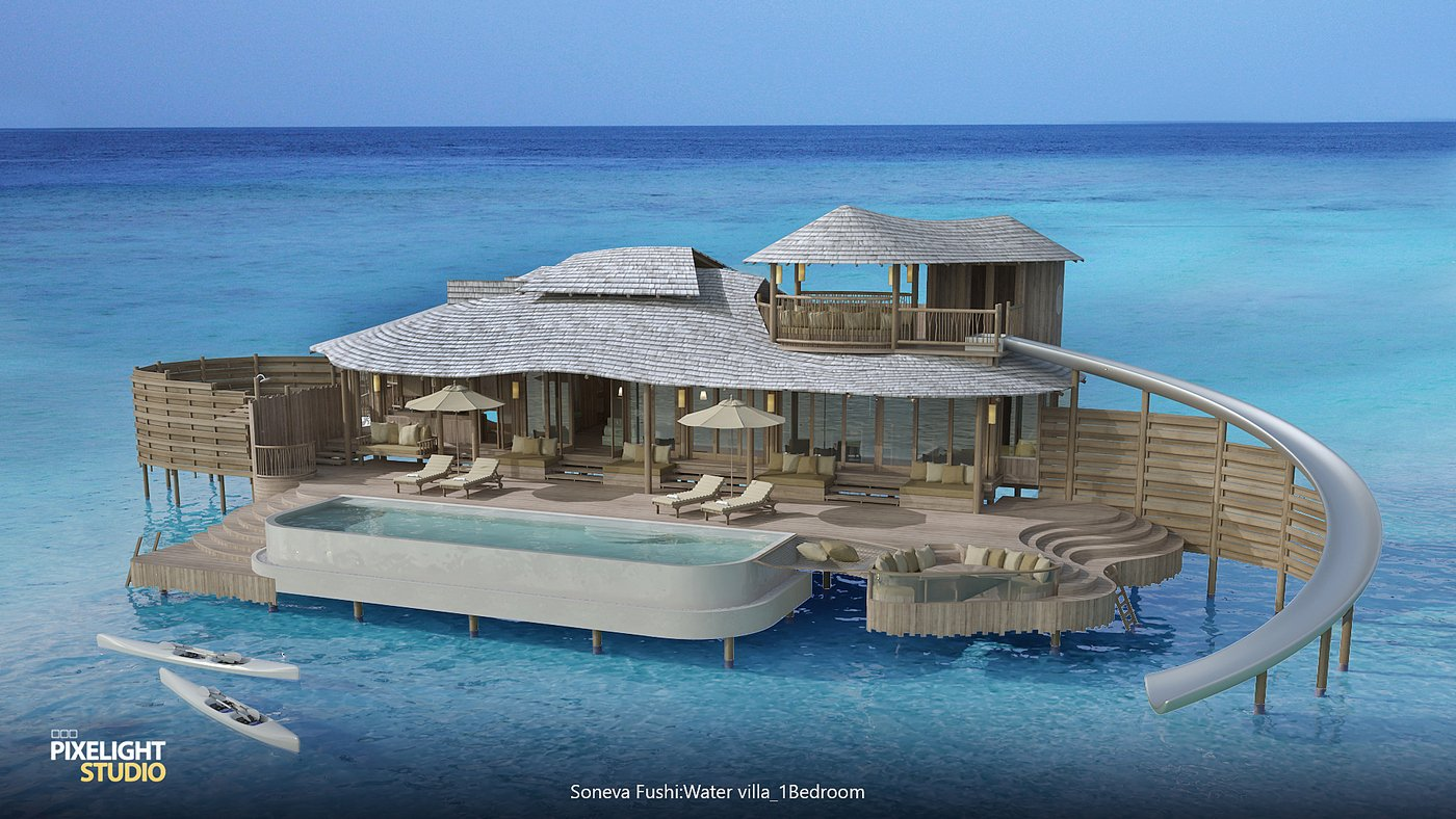 Maldives' iconic Soneva Fushi resort to get overwater villas with their own water slides