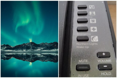Only in Iceland – Redditor spots hotel room phone with 'Northern Lights Wake-Up' button