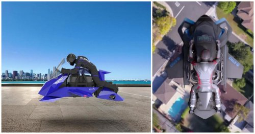 Forget flying cars, this $380,000 flying motorcycle can hit a top speed of 300mph and carry a load of 600 pounds