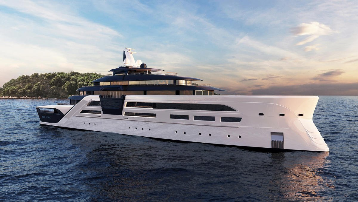 A Floating Fortress for Billionaires: Check out this 311-Foot Mega Yacht that runs on batteries and comes with a safe room, Imax theater and two pools