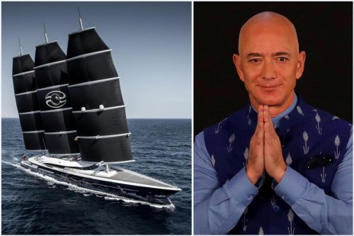 Longer than a football field, an indeck pool, an ambient cinema and more – Jeff Bezos is building a humongous luxury yacht. The $500 million vessel will have a support yacht with its own helipad.