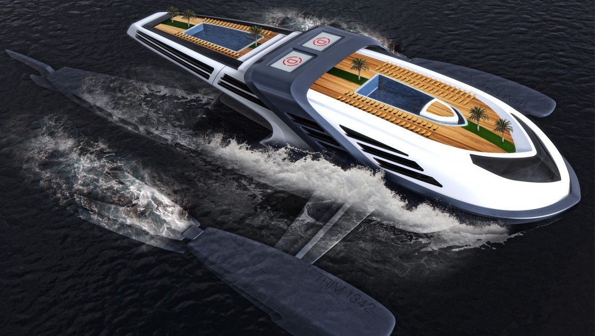 A $100 million eco friendly luxury yacht concept that is powered by whale tails - Luxurylaunches