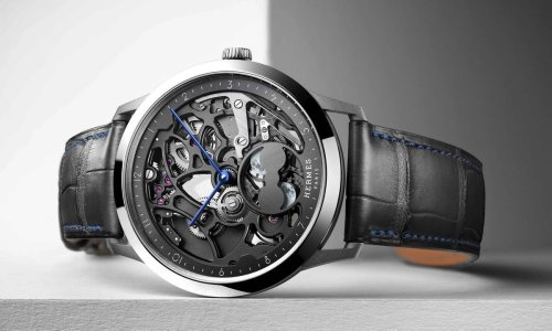Hermès has debuted a sleek skeleton dial with the Slim d'Hermès Squelette Lune