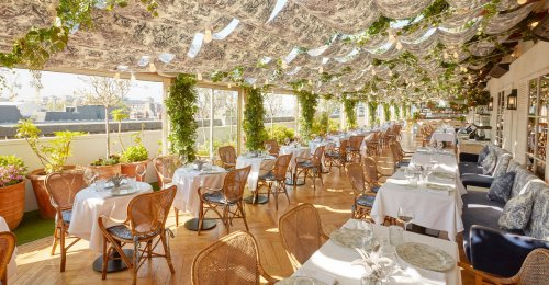 Have a look at Dior's seaside-inspired rooftop restaurant at Selfridges, London