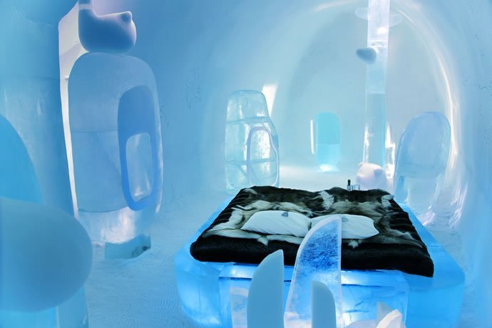 BMW designed MINI suite at the Ice hotel in Sweden comes complete with a private sauna - Luxurylaunches
