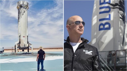 Beating Elon Musk and Richard Branson in the billionaire space race – Jeff Bezos and his brother will fly to the edge of space next month on a Blue Origin spacecraft
