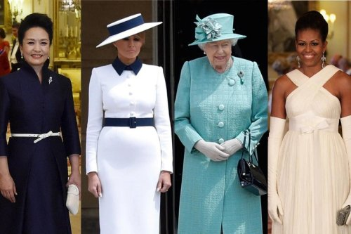 Melanie Trump chose Christian Dior while Michelle Obama went with Tom Ford – As Jill Biden sips tea with the queen, here is what the first ladies wore when meeting the British Royal family