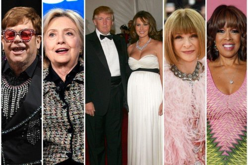 Were Bill and Hillary Clinton paid big bucks to go? They downright hated his presidency but yet were celebrity guests at Donald and Melania Trump's wedding – Anna Wintour, Elton John & Gayle King attended.