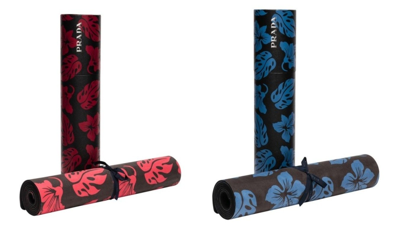 Compose yourself every morning on a $460 Prada Yoga Mat - Luxurylaunches