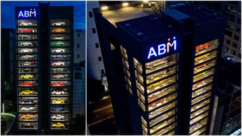 This 15-storey glass building is the world's largest supercar vending machine : Luxurylaunches