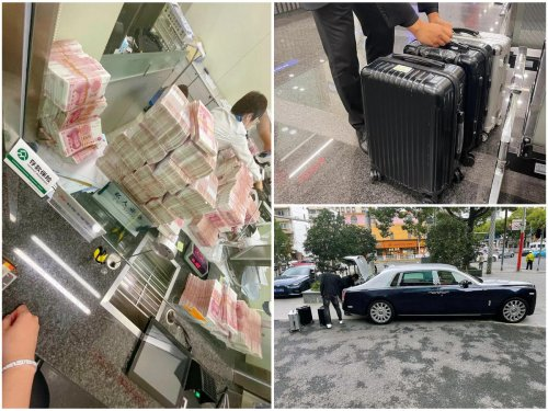 Infuriated when requested to wear a mask – A petty Chinese millionaire withdrew ¥5million and in retaliation ordered the bank staff to count all of it and drove off with bags full of cash in his Rolls Royce.