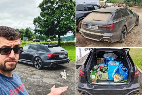 Audi loans Youtuber a $125,000 RS6 press car for testing on the Nurburgring but is displeased when he uses the car to shuttle volunteers and deliver supplies to flood-ravaged areas of Germany