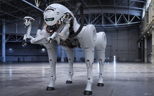 This autonomous beast of a robot dog makes all other robotic dogs and even the scariest of rottweilers look like poodles