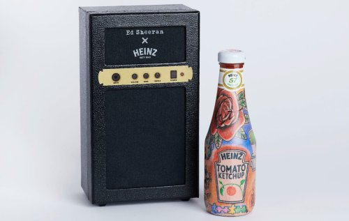 Ed Sheeran's Love for Heinz Immortalized with Matching Tattooed Ketchup Bottles.