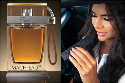 Just for its nostalgic Mach-E electric car buyers, Ford has created a gasoline smelled fragrance