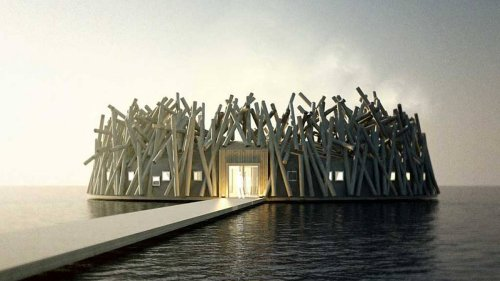 Check out this one of a-kind floating hotel and spa in Sweden